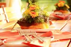 Het openlucht dineren Stock Foto's