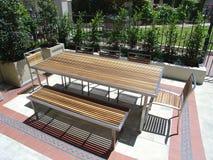 Het openlucht meubilair plaatsen Royalty-vrije Stock Foto