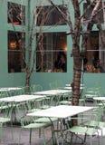 Het openlucht restaurant plaatsen Royalty-vrije Stock Afbeelding