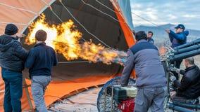 Het Openluchtavontuur van de hete Luchtballon royalty-vrije stock afbeeldingen