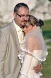 Het openluchtlandschap van het huwelijk Stock Foto's