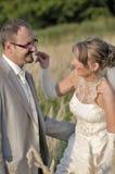Het openluchtlandschap van het huwelijk Stock Foto