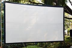 Het openluchttheater van bioskoopfilms Stock Foto's