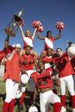 Het opgewekte Team van het Rugby Royalty-vrije Stock Afbeeldingen
