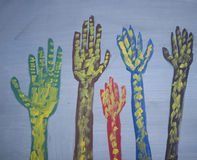Het opheffen van handen vector illustratie