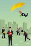 Het oplossen van het concept van het bedrijfsraadselgroepswerk Stock Afbeeldingen