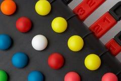 Het oplossen van het probleem raadselspel Stock Foto