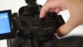 Het opnieuw opwinden en snel het Door:sturen op Videocamera stock footage