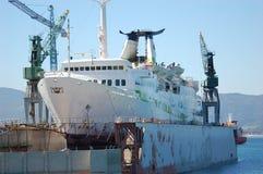 Het opnieuw schilderen van het schip Royalty-vrije Stock Afbeeldingen