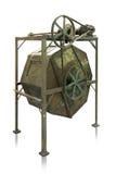 Het Oppoetsen van de oude Chinese Fabriek Machine (Droog Pools) Royalty-vrije Stock Afbeelding