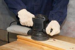 Het oppoetsen van het hout Stock Foto