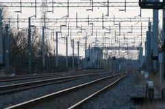 Het opruimen van de spoorweg stock foto