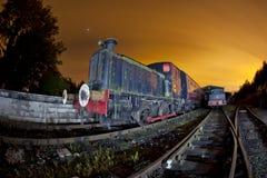 Het opruimen van de trein stock foto