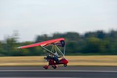 Het opstijgen van de deltavlieger Stock Foto