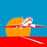 Het opstijgen van de jet Stock Fotografie