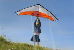 Het opstijgen van de vlieger Royalty-vrije Stock Afbeelding