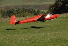 Het opstijgen van het zweefvliegtuig. stock foto