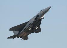 Het opstijgen van Jetfighter stock fotografie