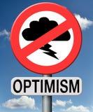 Het optimisme denkt positief en optimistisch Stock Afbeeldingen
