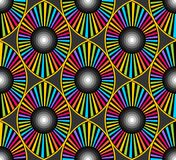 Het optische behang van het oogontwerp Stock Afbeeldingen