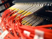 Het Optische Netwerk van de vezel Stock Afbeeldingen