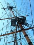 Het Optuigen van het schip Stock Foto's