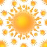 Het opvlammen van de zon draaikolk Stock Foto
