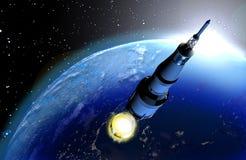 Het opvoeren van de raket royalty-vrije illustratie