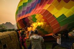 Het opvullen van ballon Stock Afbeelding