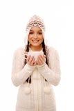 Het opwarmen met koffie Stock Foto's