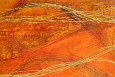 Het oranje abstracte schilderen Stock Afbeelding