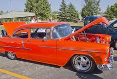 Het oranje Bel Air Chevy van 1957 Royalty-vrije Stock Foto