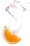 Het oranje bespatten Royalty-vrije Stock Afbeelding
