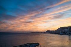 Het oranje blauw van Alicante Stock Afbeelding