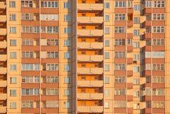 Het oranje blok van de woning Stock Afbeelding