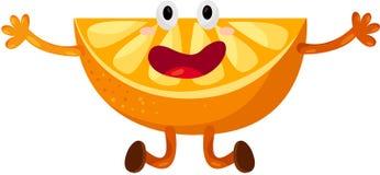 Het oranje dansen van het beeldverhaal Stock Fotografie