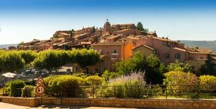 Het Oranje Dorp van Roussillon in de Provence, Frankrijk Royalty-vrije Stock Afbeelding