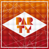 Het oranje en abstracte ontwerp van de Partijaffiche, Vectorillustratie vector illustratie