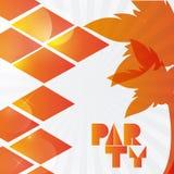 Het oranje en abstracte ontwerp van de Partijaffiche, Vectorillustratie royalty-vrije illustratie