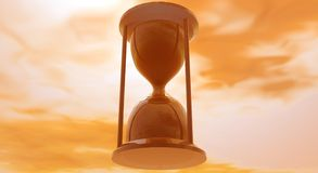 Het oranje Glas van het Zand Stock Foto's