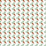 Het oranje grappige naadloze patroon van de beeldverhaal plantaardige wortel Stock Afbeelding