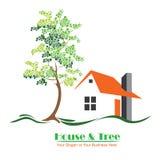 Het oranje Landgoed van Logo Design For Business Real van het Dakbezit royalty-vrije illustratie