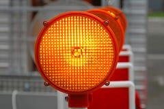 Het oranje licht van de veiligheid Stock Afbeelding