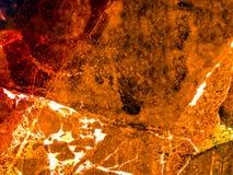 het oranje marmer en de barst van de wortel donkere luxe Stock Fotografie