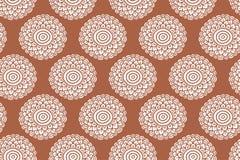 Het oranje naadloze patroon van de Bohobloem Hand getrokken volksachtergrond Stock Fotografie