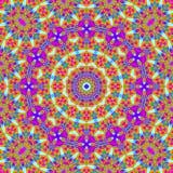 Het oranje purpere turkooise magenta van het cirkelornament Stock Foto's