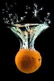 Het oranje vallen Royalty-vrije Stock Fotografie