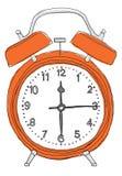 Het oranje wekker schilderen Royalty-vrije Stock Foto