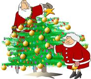 Het in orde maken van de Kerstboom vector illustratie