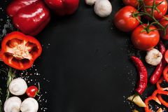 Het organische plantaardige concept van de voedselfotografie royalty-vrije stock fotografie